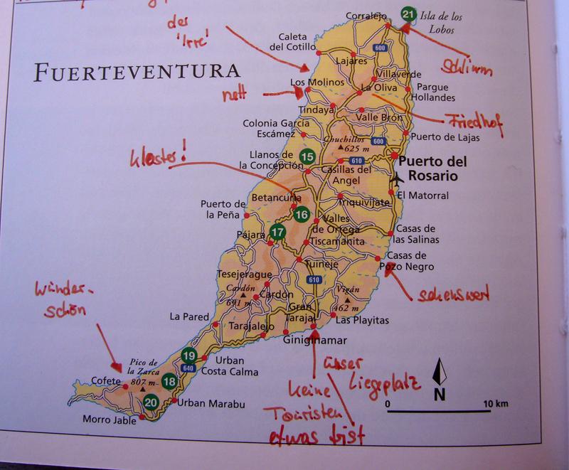 Fuerteventura Karte Mit Sehenswürdigkeiten