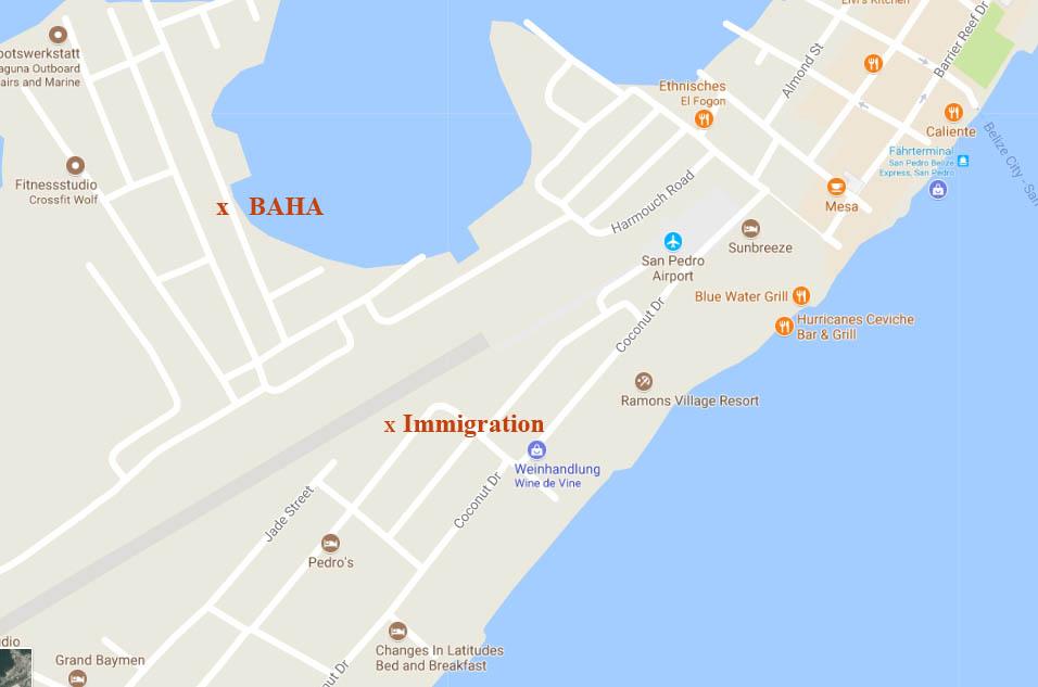 Immigration und BAHA in San Pedro