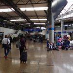 Der Busbahnhof in Bogotá, wie ein Flughafen
