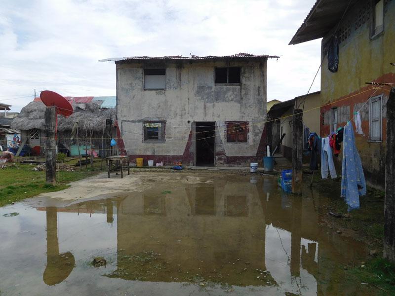 Traurige Häuser