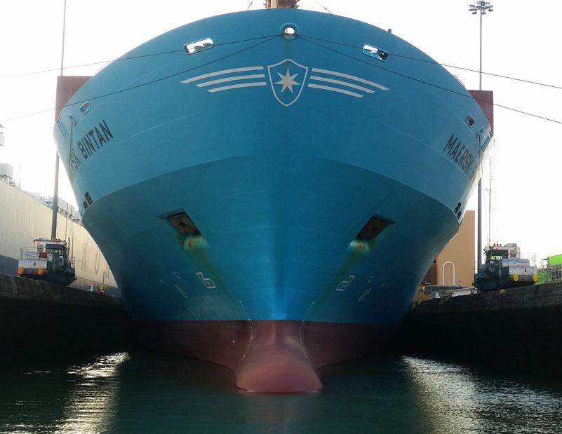 So sieht das mit dem Maersk