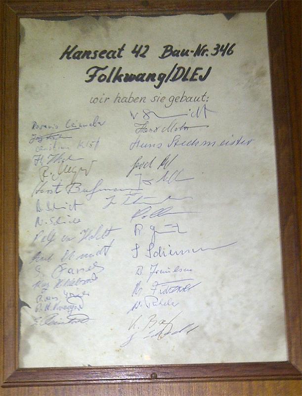 Hanseat Urkunde