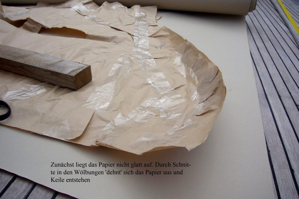 Papier Wölbung