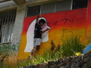 Graffiti-Alltag in Medellin