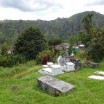 der Friedhof idyllisch