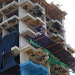 Gerüst am Hochhaus - Innovationspreis verdächtig