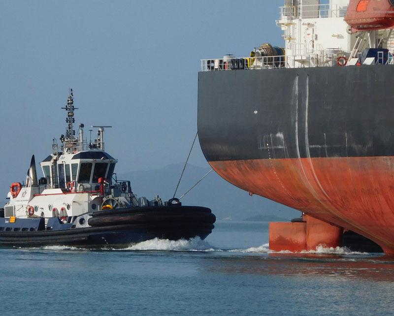 Schlepphilfe vom Tug-Boot, die unglaublich Schwell verbreiten