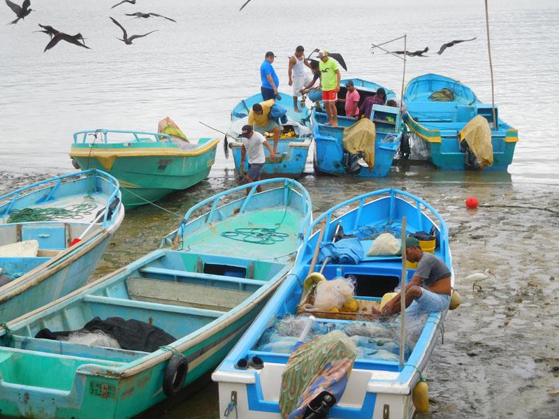 Fischer auf dem Chone