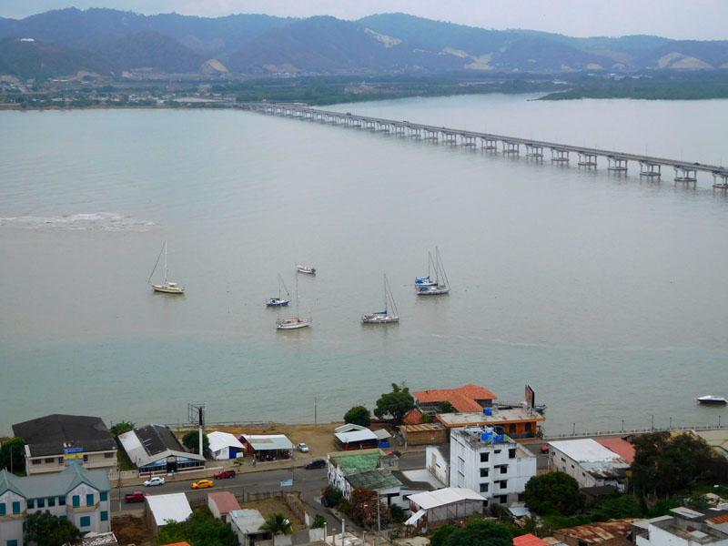Kleines Ankerfeld im Rio Chone