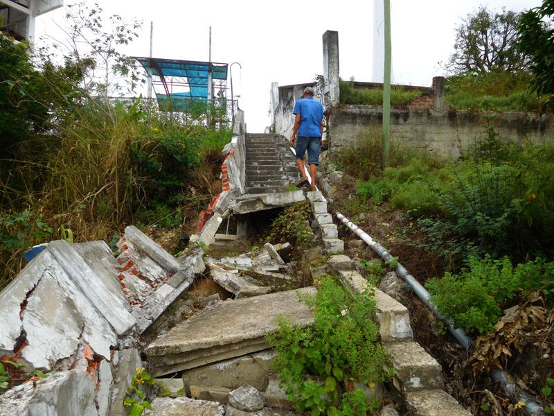 Treppe zum Aussichts-Kreuz