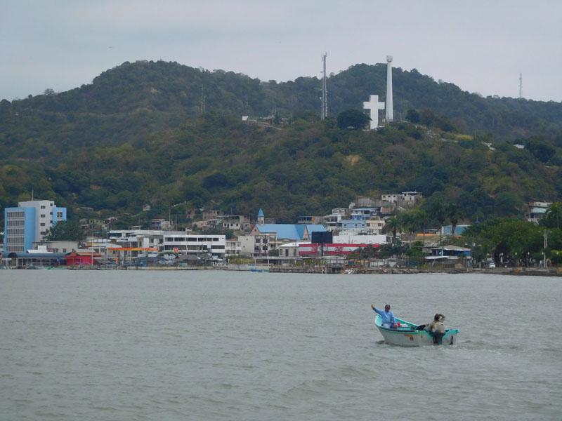 Bei der Anfahrt auf Bahía de Caráquez