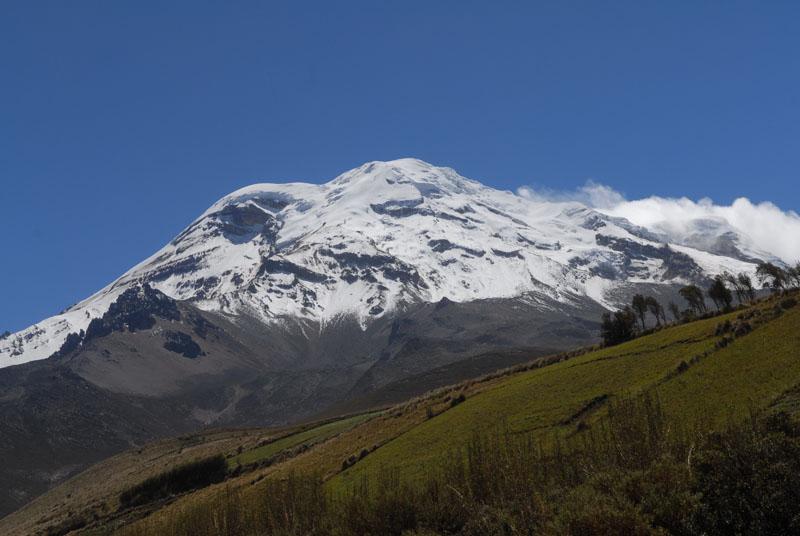 Die Schneekuppe vom Chimborazo