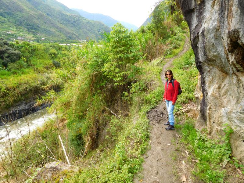 Harmloser Wanderweg am Pastaza