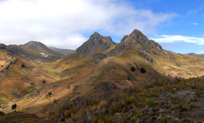 Ackerbau bis in die letzte Bergspitze