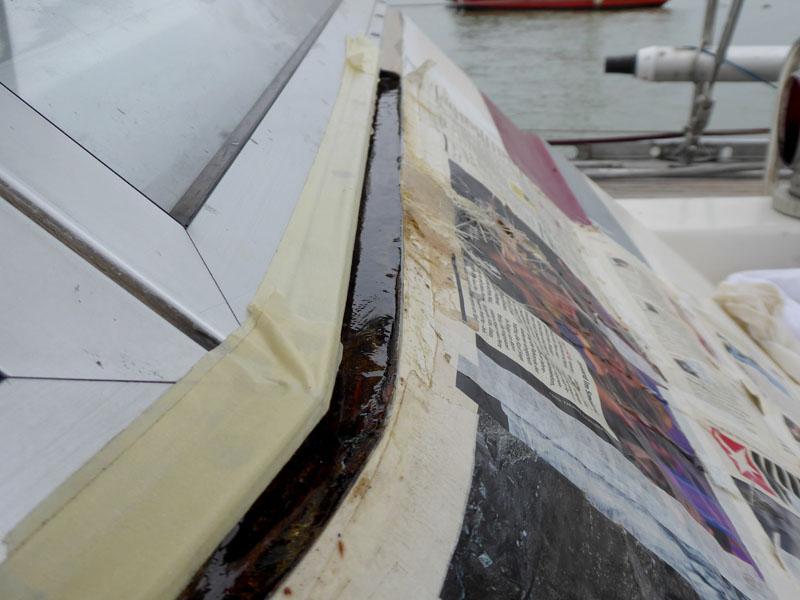 Reparatur mit Polyester-Harz