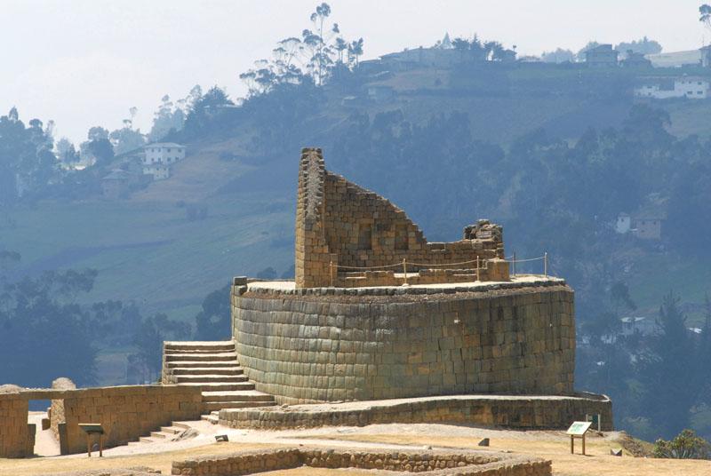 Ingapirca - bedeutet 'Inca Steinmauer'