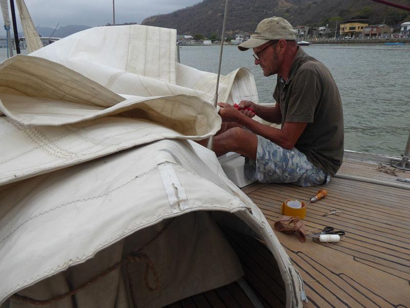 Segelmacher-Stube an Deck