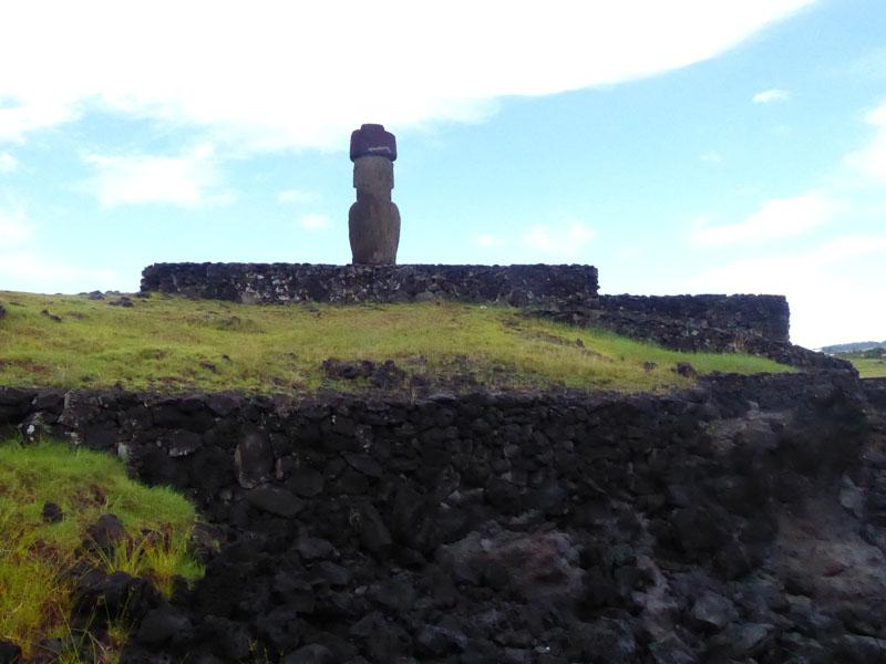 Moai von hinten