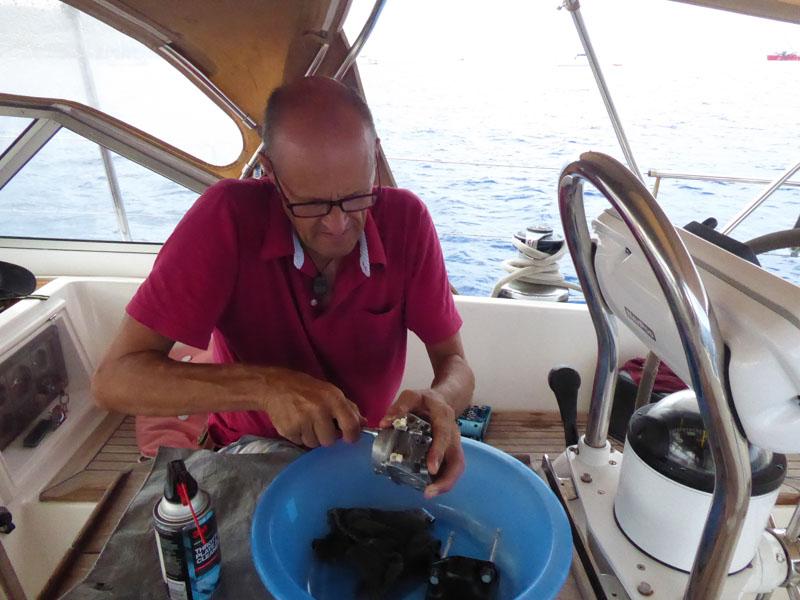 Skipper gibt alles